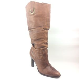 Matisse boots high slouchy brown leather size 8.5